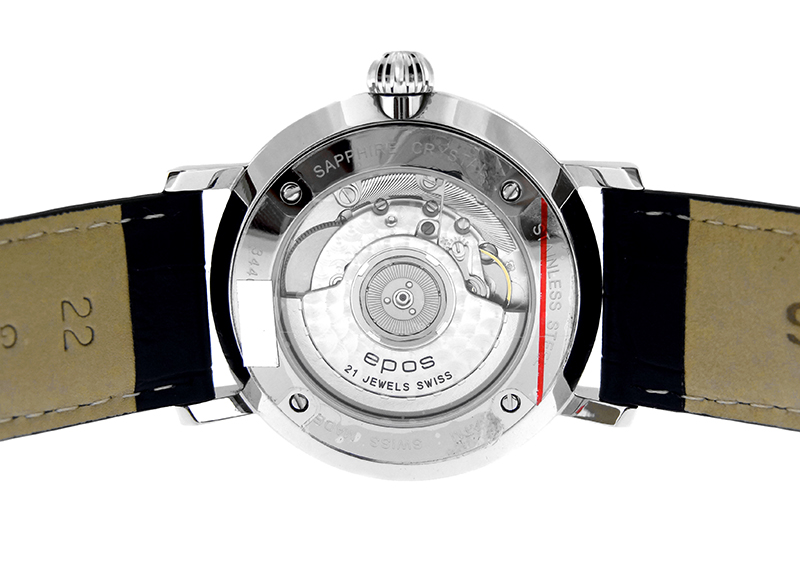 エポス 3440BL ナイトスカイ ビッグムーン SS ブルー文字盤 自動巻き レザー