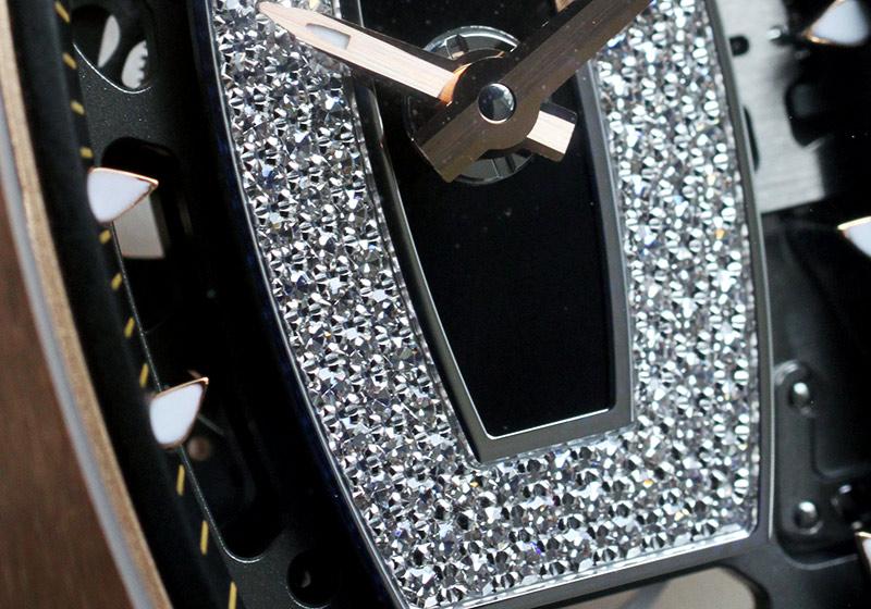 【新品同様】リシャールミル RM07-01 レディース オートマティック RG スケルトン文字盤 自動巻き ラバー【中古】