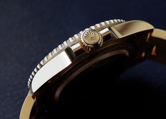 ロレックス 116618LB オイスターパーペチュアル サブマリーナー デイト YG ブルー文字盤 自動巻き ブレスレット