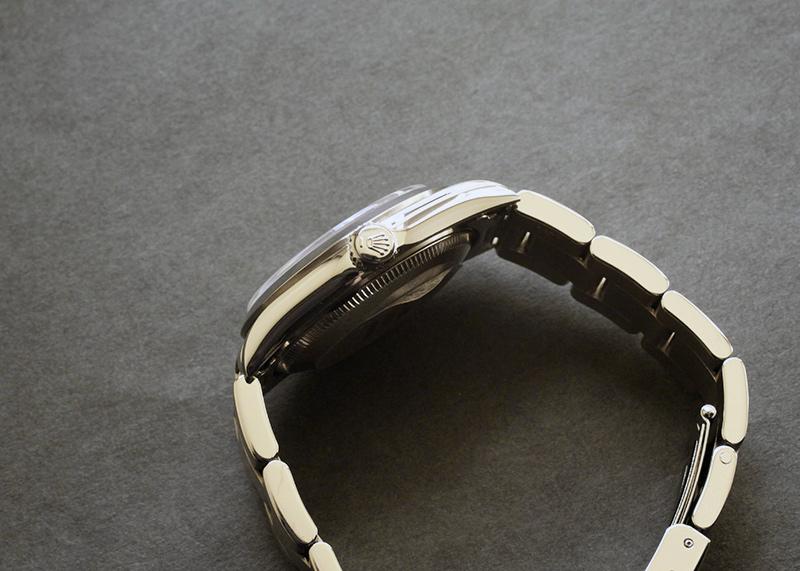 【中古】ロレックス 67480 ボーイズ オイスターパーぺチュアル SS 黒文字盤 自動巻き ブレスレット