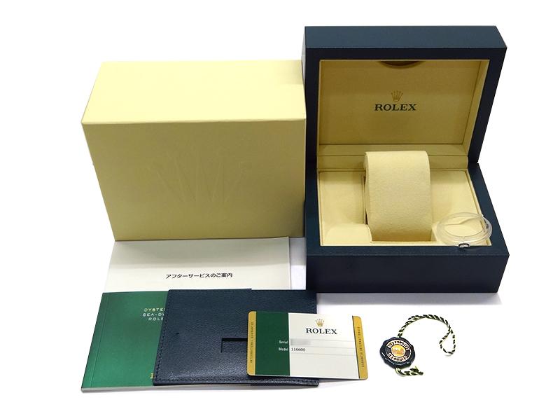 【中古】ロレックス 116600 オイスターパーペチュアル シードゥエラー 4000 SS 黒文字盤 自動巻き ブレスレット