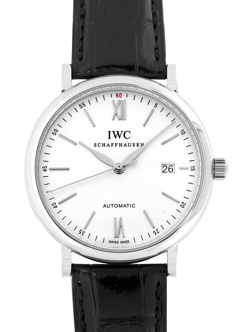 IWC IW356501 ポートフィノ  SS シルバー文字盤 自動巻き  レザー