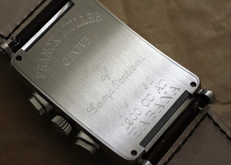 【中古】フランクミュラー 1200CC HABANA ロングアイランド クロノグラフ SS ブラウン文字盤 自動巻き レザー