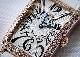 フランクミュラー 902QZD レディース ロングアイランド ダイヤモンドベゼル PG シルバー文字盤 クォーツ レザー