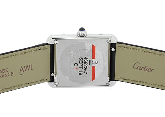 カルティエ WSTA0030 レディース タンク ソロ SM SS シルバー文字盤 クォーツ レザー