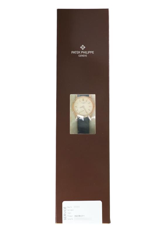 【レストア】パテックフィリップ 3923R-011 カラトラバ RG アイボリー文字盤 手巻き レザー【アーカイブ付】【1996年製】