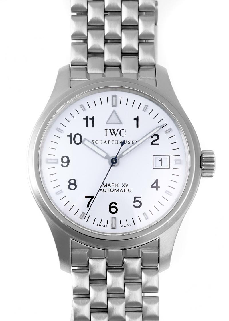 【中古】IWC IW325310 パイロットウォッチ マーク15(XV) SS 白文字盤 自動巻き ブレスレット