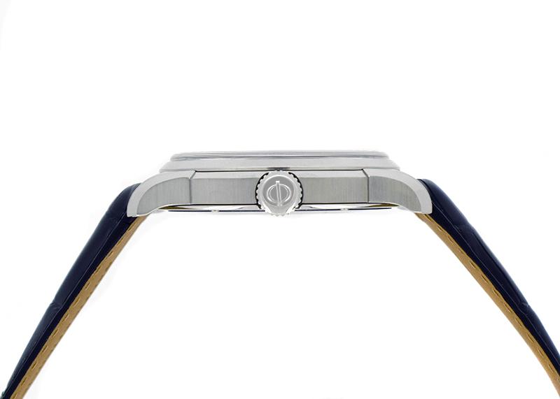 ボーム&メルシェ MOA10422 クリフトン GMT SS ブルー文字盤 自動巻き レザー
