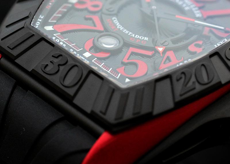 フランクミュラー 8900SCDT GPG コンキスタドール グランプリ TI&ERG 黒文字盤 自動巻き ラバー