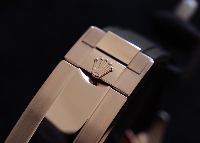 【中古】ロレックス 116655 ヨットマスター40 RG 黒文字盤 自動巻き ラバー