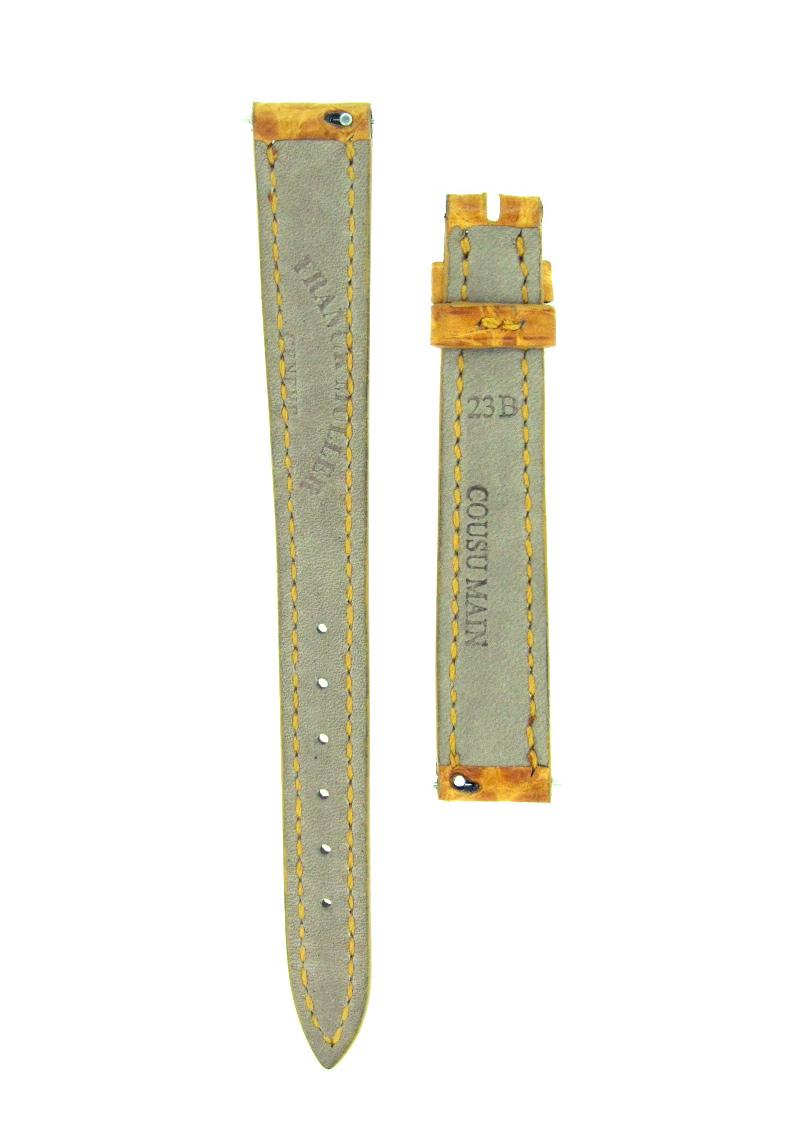フランクミュラー レザーストラップ インターミディエ 2250用 クロコダイル イエロー 12-10mm