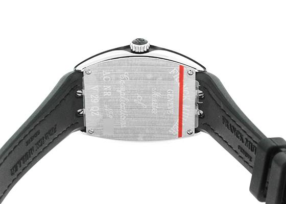 フランクミュラー V29QZ レディース ヴァンガード SS シルバー/ブラック文字盤 クォーツ クロコダイル/ラバー
