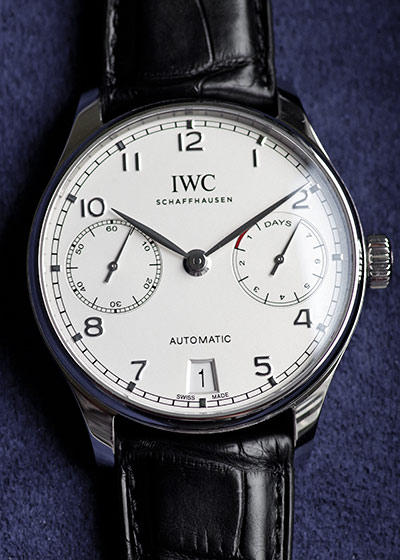 IWC IW500712 ポルトギーゼ オートマティック 7DAYS SS シルバー文字盤/シルバー針 自動巻き レザー