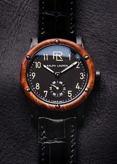 【未使用品】ラルフローレン RLR0250704 オートモーティブ 39MM SS 黒文字盤 手巻き レザー