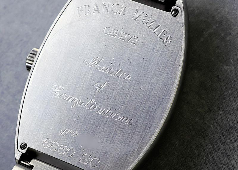 【中古】フランクミュラー 6850SC トノーカーベックス SS ブルー文字盤 自動巻き ブレスレット