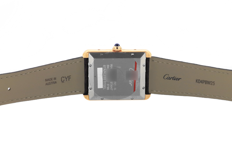 カルティエ W5200026 タンク ソロ XL PG&SS シルバー文字盤 自動巻き レザー