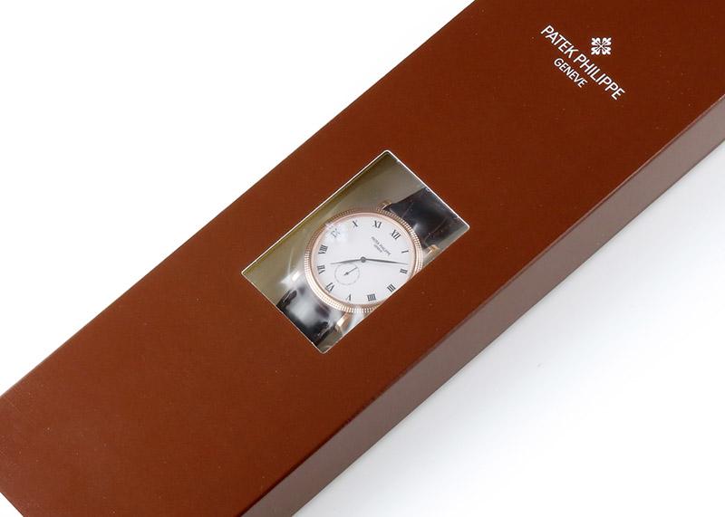 【レストア】パテックフィリップ 3919R-001 カラトラバ RG 白文字盤 手巻き レザー【アーカイブ付】【2003年製】