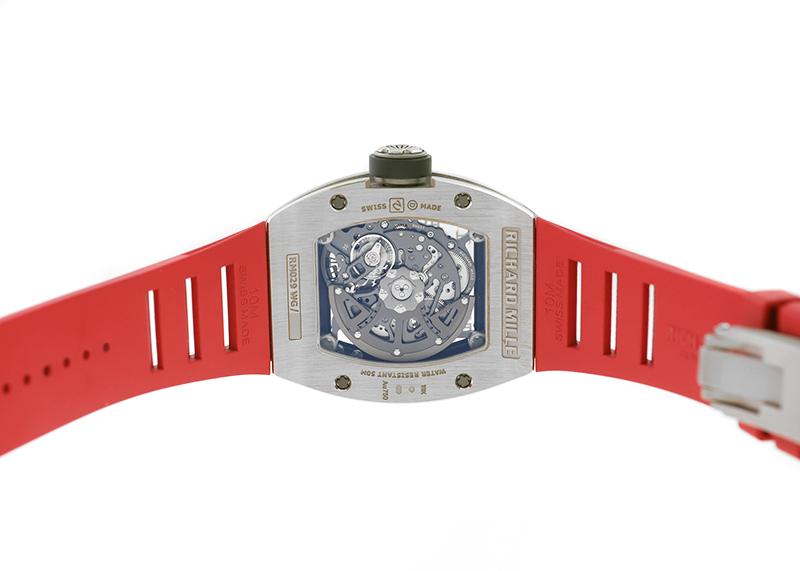 【中古】リシャールミル RM029 オートマティック オーバーサイズデイト ダイヤモンド WG スケルトン文字盤 自動巻き ラバー
