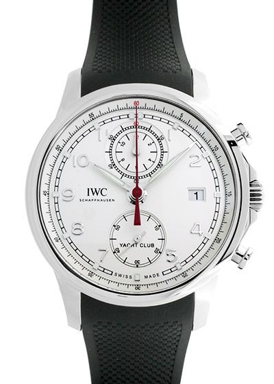 IWC IW390502 ポルトギーゼ ヨットクラブ クロノグラフ SS 白文字盤 自動巻き ラバー