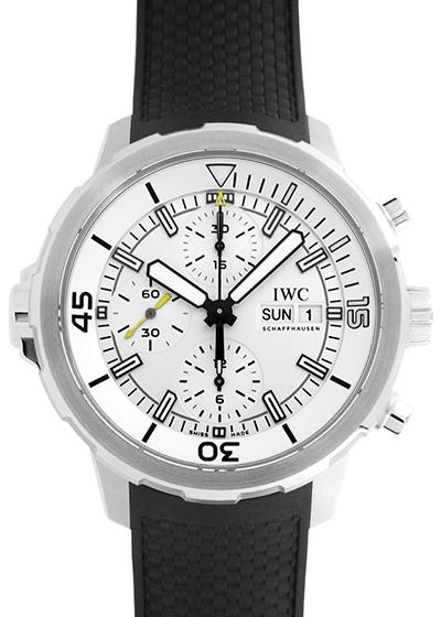 IWC IW376801 アクアタイマー クロノグラフ SS 白文字盤 自動巻き ラバー