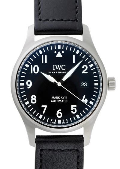 【即日ご注文可】IWC IW327009(IW327001) パイロットウォッチ マークXVIII SS 黒文字盤 自動巻き レザー