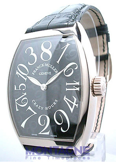 フランクミュラー 7851CH クレイジーアワーズ 18Kホワイトゴールド ブラック レザー