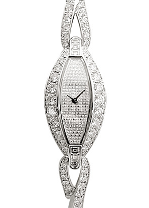 ハリーウィンストン 521/LQWW.D01 レディース リボン 全面ダイヤモンド WG ダイヤモンド文字盤 クォーツ ブレスレット