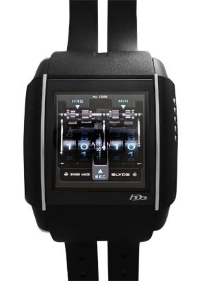 HD3 PV00V1CA01 スライド TI&PVD タッチパネル文字盤 クォーツ ラバー