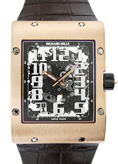 リシャール ミル RM016 オートマティック PG スケルトン文字盤 自動巻き レザー
