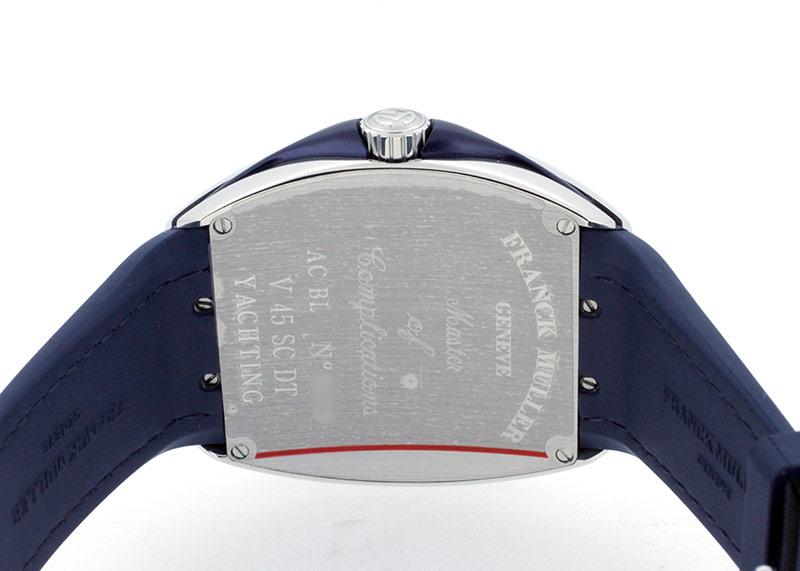 フランクミュラー V45SCDT YACHTING ヴァンガード デイト ヨッティング SS ブルー文字盤 自動巻き ファブリック(ブルー)/ラバー