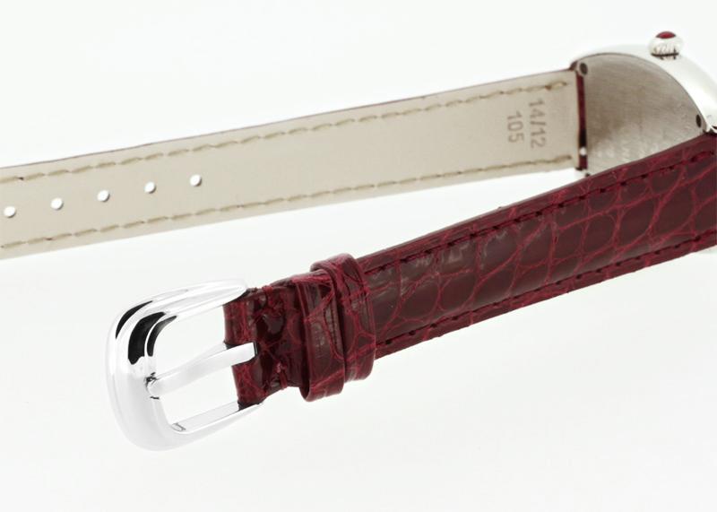 【中古】フランクミュラー 1752QZ レディス トノーカーベックス レッドカーペット SS レッド文字盤 クォーツ レザー