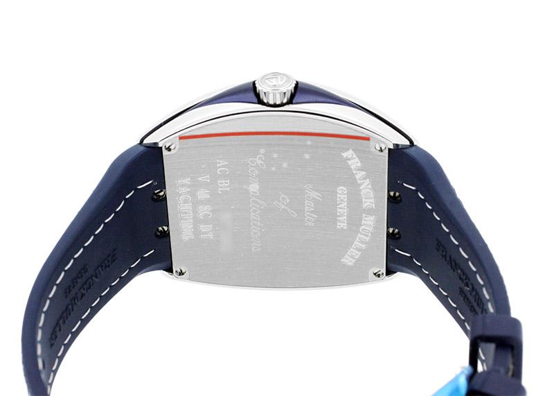 【お取り寄せ可能】フランクミュラー V41SCDT YACHTING ヴァンガード デイト ヨッティング SS ブルー文字盤 自動巻き ファブリック(ブルー)/ラバー