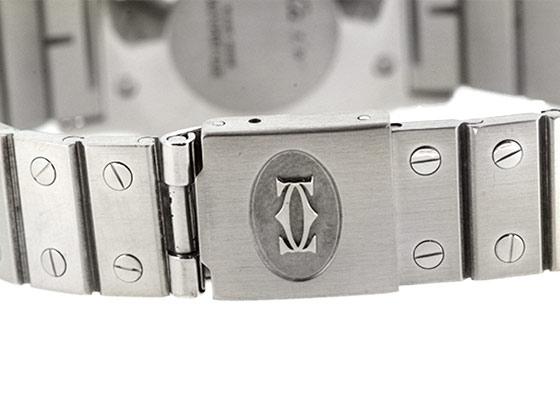 【中古】カルティエ サントス オクタゴン 29mm SS 白文字盤 自動巻き ブレスレット