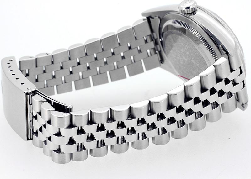 【中古】ロレックス 16234G オイスター パーペチュアル デイトジャスト WG&SS シルバー文字盤 自動巻き ブレスレット