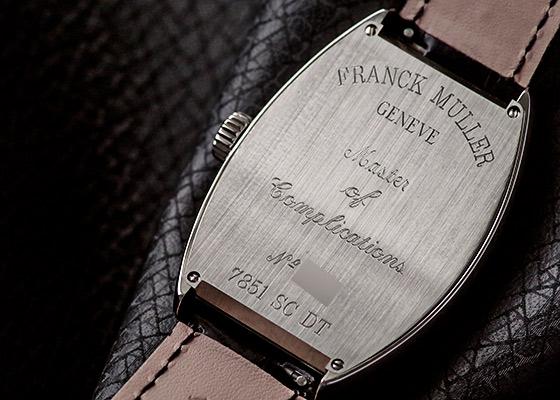 フランクミュラー 7851SCDT トノーカーベックス SS シルバー文字盤 自動巻き レザー
