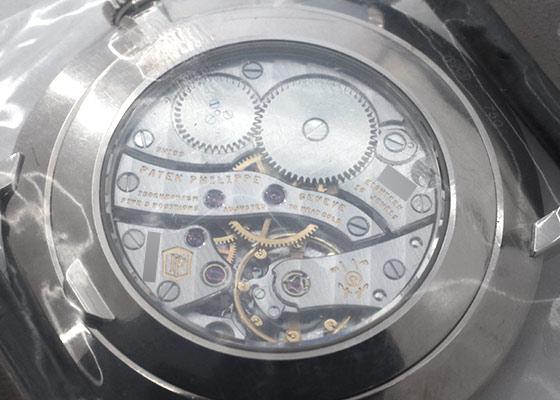 パテックフィリップ 5116G-001 カラトラバ WG エナメル文字盤 手巻き レザー