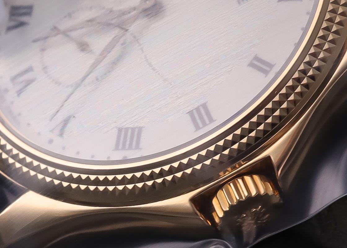 【レストア】パテックフィリップ 5115J-001 カラトラバ YG エナメル文字盤 手巻き レザー【2001年製】