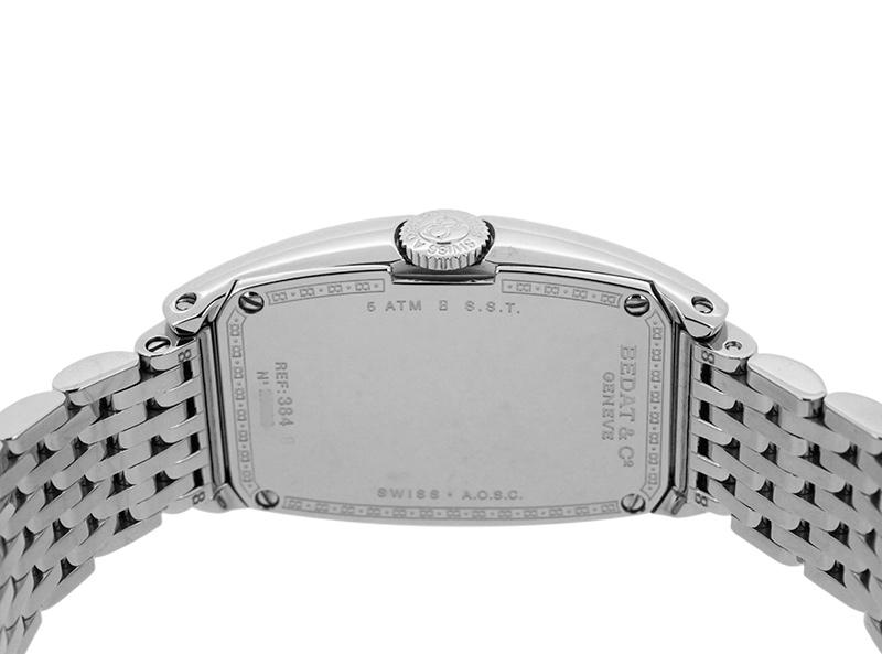 ベダ&カンパニー 384.031.600 レディース No.3 ロングトノー ダイヤモンドベゼル SS シルバー文字盤 クォーツ ブレスレット