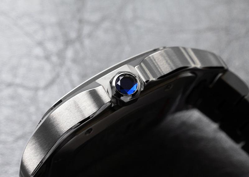 カルティエ WSSA0009 サントス ドゥ カルティエ LM SS シルバー文字盤 自動巻き ブレスレット/レザー