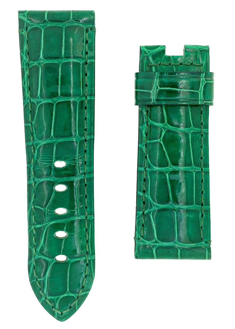 オフィチーネパネライ レザーストラップ ルミノール 44mm Dバックル用 クロコダイル グリーン(艶有) 24-22mm