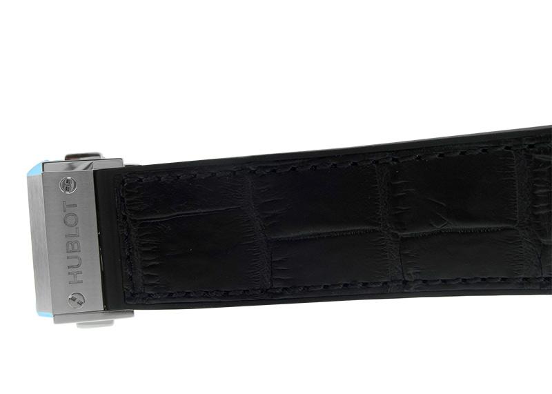 ウブロ 511.NX.1171.LR クラシックフュージョン チタニウム TI 黒文字盤 自動巻き ラバー/アリゲーター