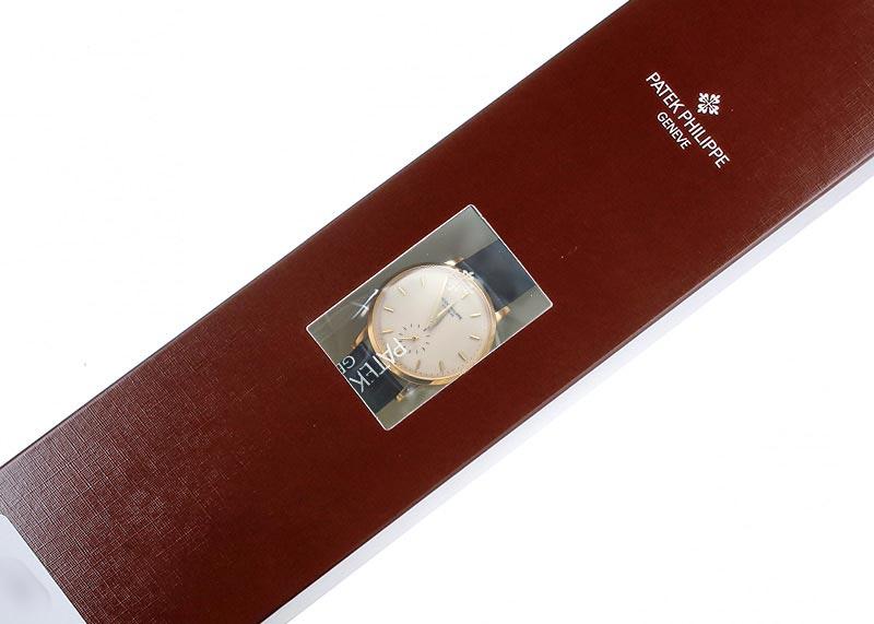 【レストア】パテックフィリップ 3893J カラトラバ YG アイボリー文字盤 手巻き レザー【アーカイブ付き】【1991年製】