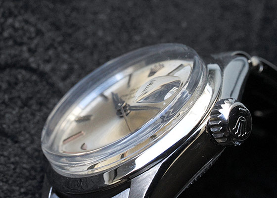 【ヴィンテージ】【1957年製】ロレックス 6516 レディース オイスター パーペチュアル デイト SS シルバー文字盤 自動巻き ブレスレット