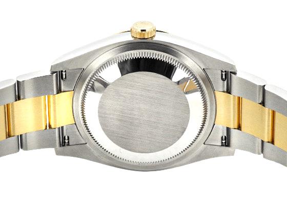 ロレックス 126203G オイスターパーペチュアル デイトジャスト YG&SS 黒文字盤 自動巻き ブレスレット