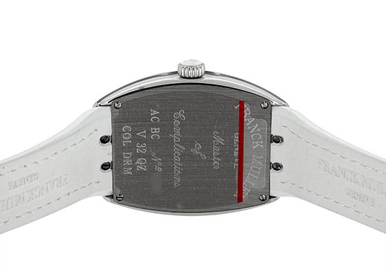 フランクミュラー V32QZ COL DRM レディース ヴァンガード カラードリーム SS シルバー文字盤 クォーツ レザー/ラバー