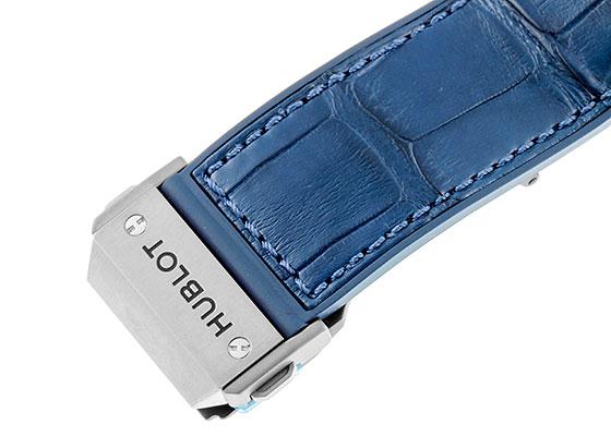 ウブロ 601.NX.7170.LR スピリット オブ ビッグバン チタニウム ブルー TI スケルトン文字盤 自動巻き ラバーアリゲーター