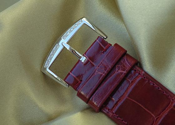 フランクミュラー 1002 QZ REL MOP D ロングアイランド ダイヤモンドベゼル レリーフ SS シェル文字盤 クォーツ レザー