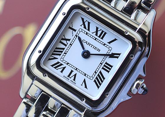 カルティエ WSPN0006 レディース パンテール ドゥ カルティエ SM SS シルバー文字盤 クォーツ ブレスレット