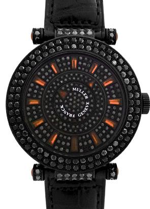 フランクミュラー DM42 NR D 2R CD ロンド ダブルミステリー ケースブラックダイヤモンド WG(PVD) ブラックダイヤモンド文字盤/サファイアインデックス 自動巻き レザー