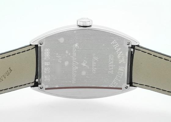 フランクミュラー 8880SCDT トノーカーベックス SS シルバー文字盤 自動巻き レザー(艶あり)